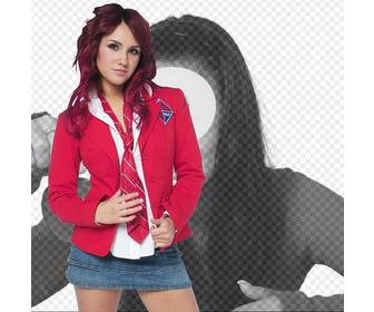 photomontage with dulce maria rebelde in uniform