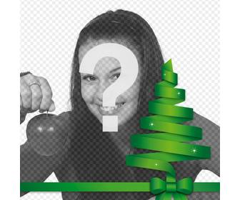 christmas tree vector to decorate ur photo