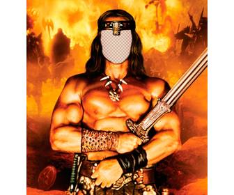 put ur face in this online photomontage of conan the barbarian