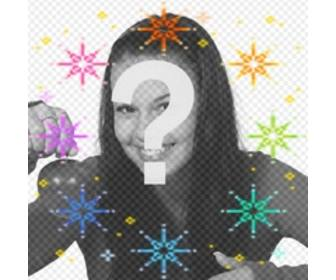 make ur avatar more funny with this animation of color stars
