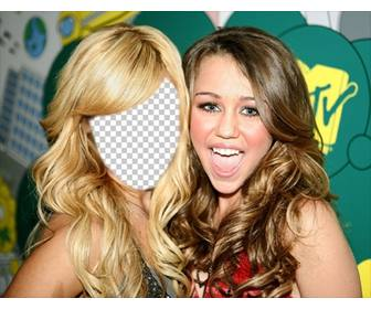 photomontage where u can put ur face on ashley tisdale with miley cyrus