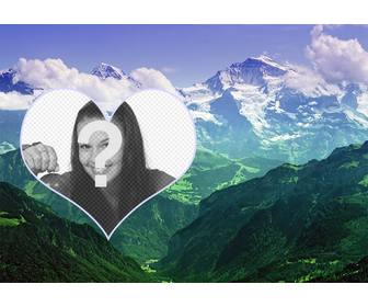 collage to put ur photo in landscape with mountains
