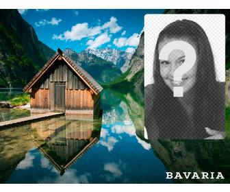 bavaria postcard with picture of hut