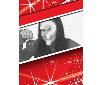 highlight ur profile photo this christmas with this red frame