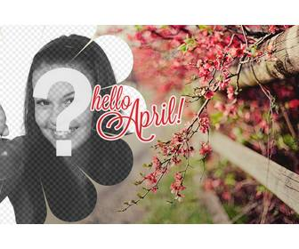 Spring Wallpaper With The Text Hello April