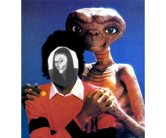 michael jackson with et michael jackson montage of ur photo