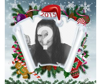 photomontage of christmas with parchment and other christmas items