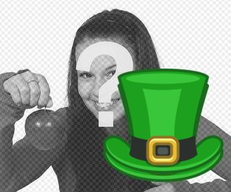 st patrickquots hat to put in ur online photos as sticker on our image editor