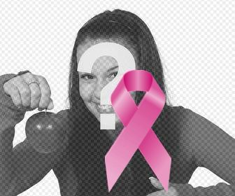 Tie against cancer to put on your profile photo online.