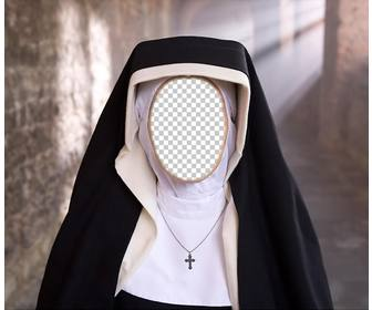 photomontage of nun to put the photo of ur face