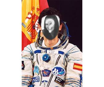 photo effect where u can put ur face on the body of pedro duque spanish astronaut