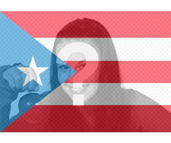 photomontage flag of puerto rico for ur photo