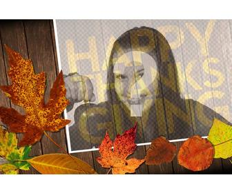 happy thanksgiving photo effect to ur photo