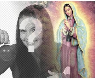 photo effect to upload ur photo with the virgin of guadalupe