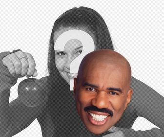 sticker of the steve harvey face to put on ur pictures