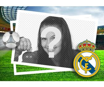 picture frame for real madrid fans to edit with ur photo