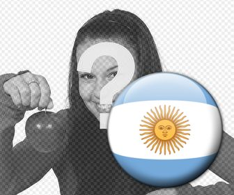 button with the flag of argentina to add to ur favorites photos