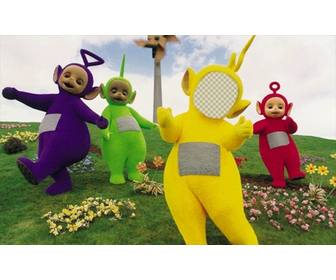 photomontage of the teletubbies to edit and put ur face