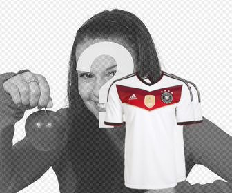 photo effect to put the shirt for germany on ur photos
