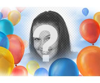 photo effect with balloons to decorate ur pictures for free