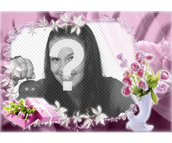beautiful frame with roses to edit with ur photo and for free