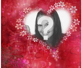 heart with flowers to decorate ur photo with this free effect
