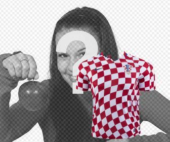 shirt of croatia soccer selection to paste on ur photos
