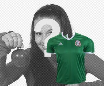 official shirt of the football team of mexico to paste in ur photos
