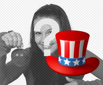 uncle sam hat to add on ur photos as online sticker
