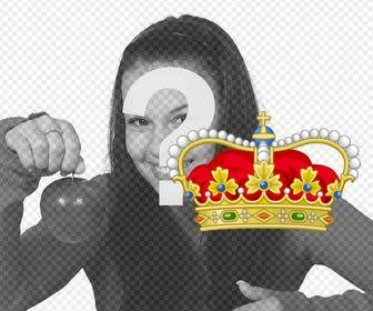 Royal Queen Crown to paste on your photos as an online sticker