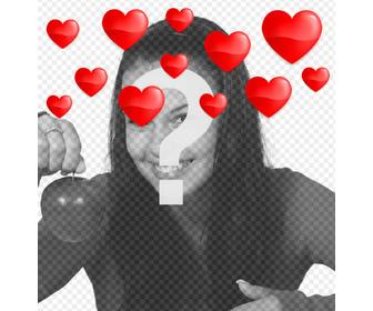 floating hearts to ur photos with this romantic effect