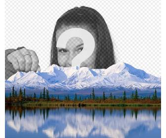 add ur photo on snowy mountain with this online effect