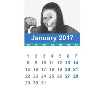 2017 january calendar who u can customize with ur own photo