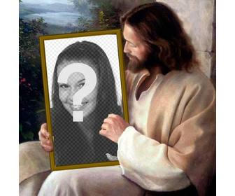 Put your picture in a picture that holds Jesus Christ.