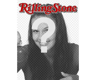rolling stone cover customizable with ur photo edit the template from the page itself just upload an image salt in magazine