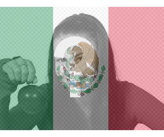 put ur photo along with the flag of mexico with this photomontage