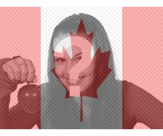 photo montage to put the canadian flag on ur profile picture