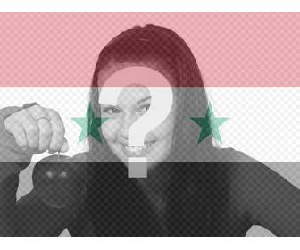photomontage of the syrian flag for ur photo