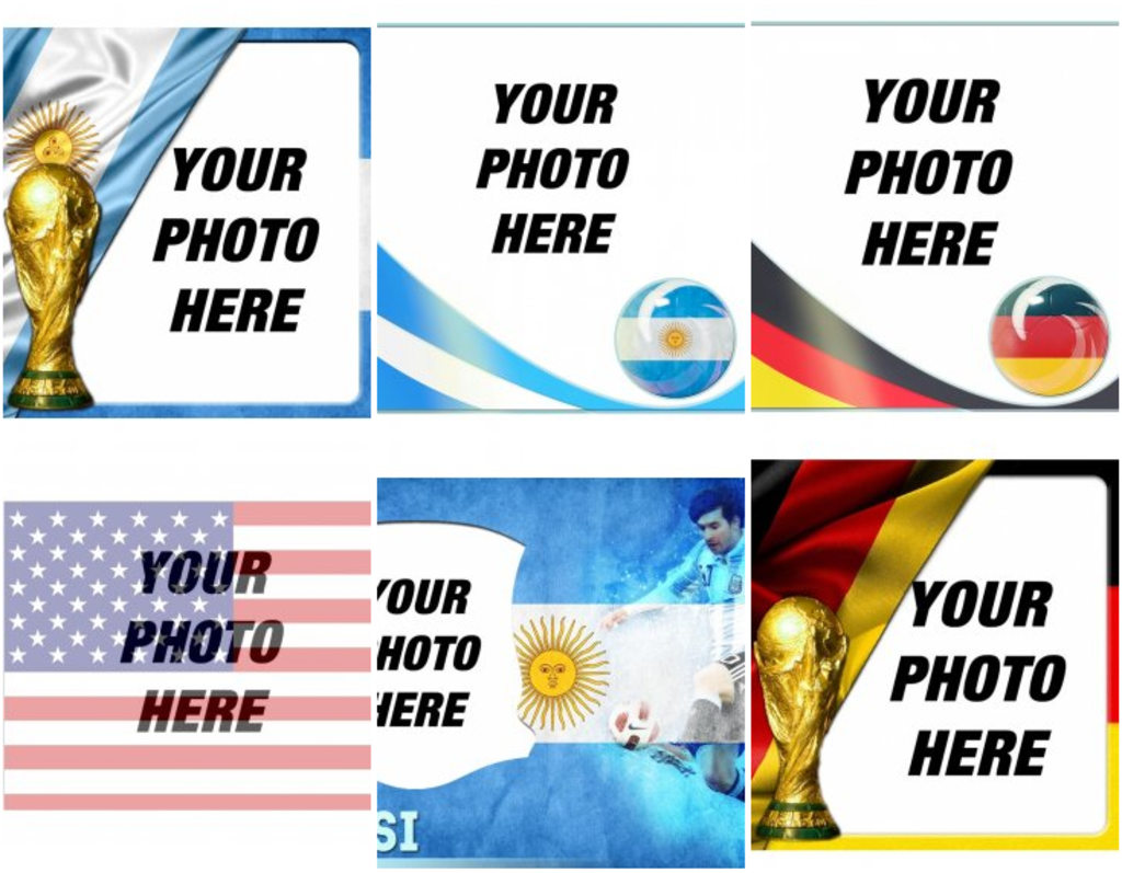 Flags of the world cup teams to put together with your picture!