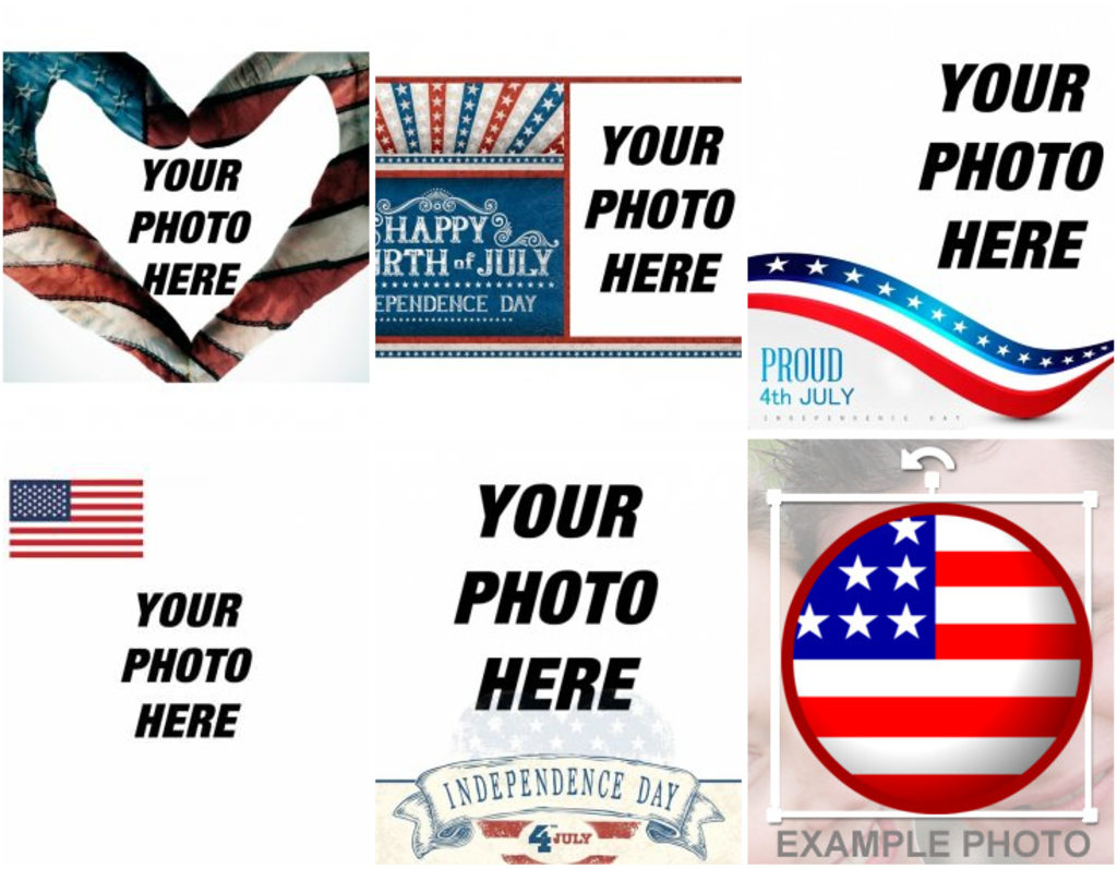 Photomontages USA independence day.