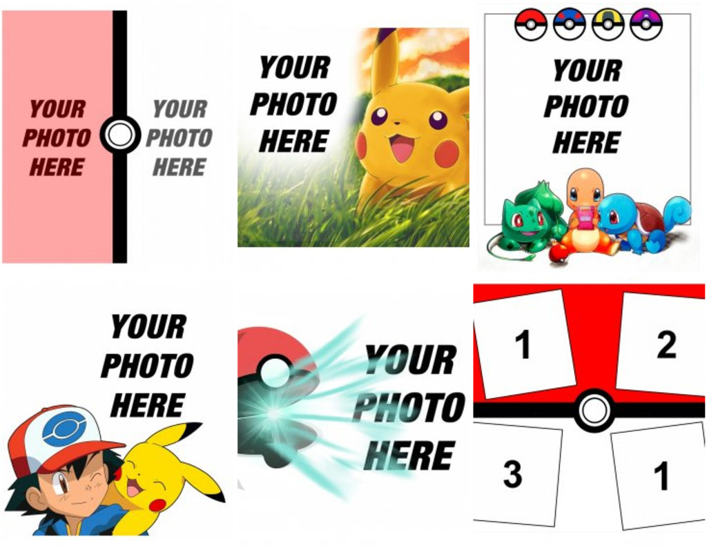 Stickers and decorations for your photos of Pokemon - Photofunny