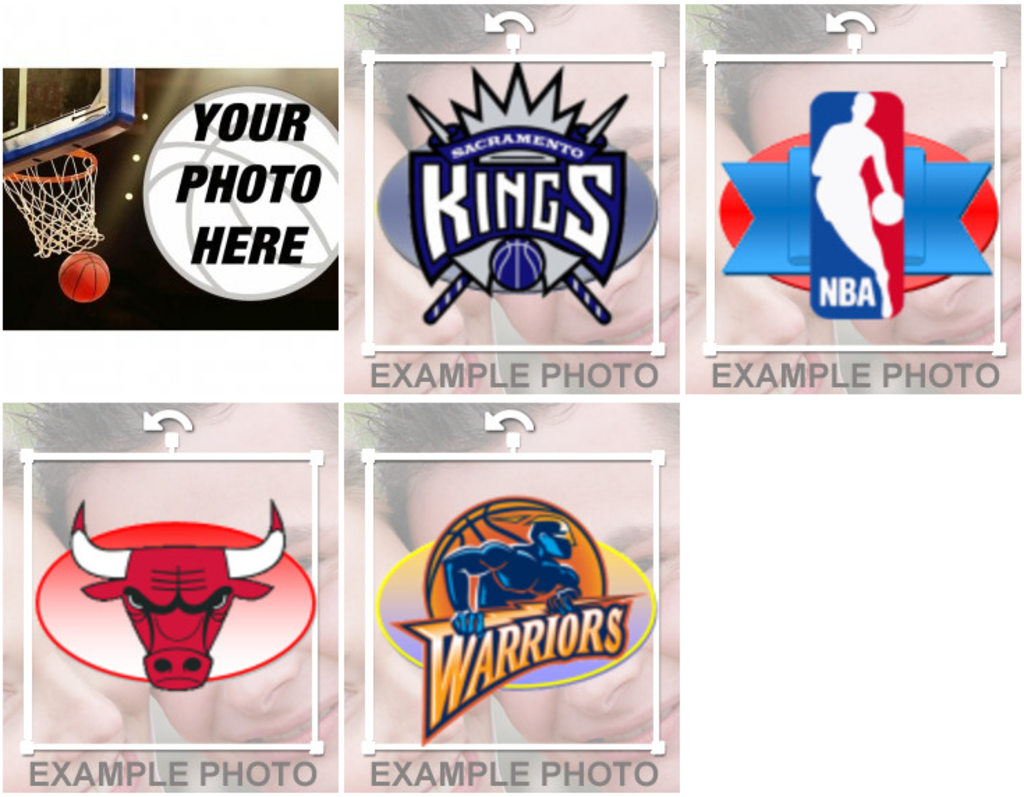 Stickers and photomontages of NBA