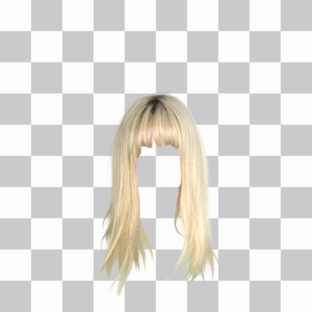 Photomontage Woman Blonde Wig To Change Your Hair
