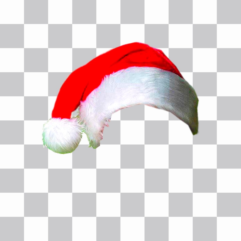 Photomontage to put a Christmas hat in your online photo