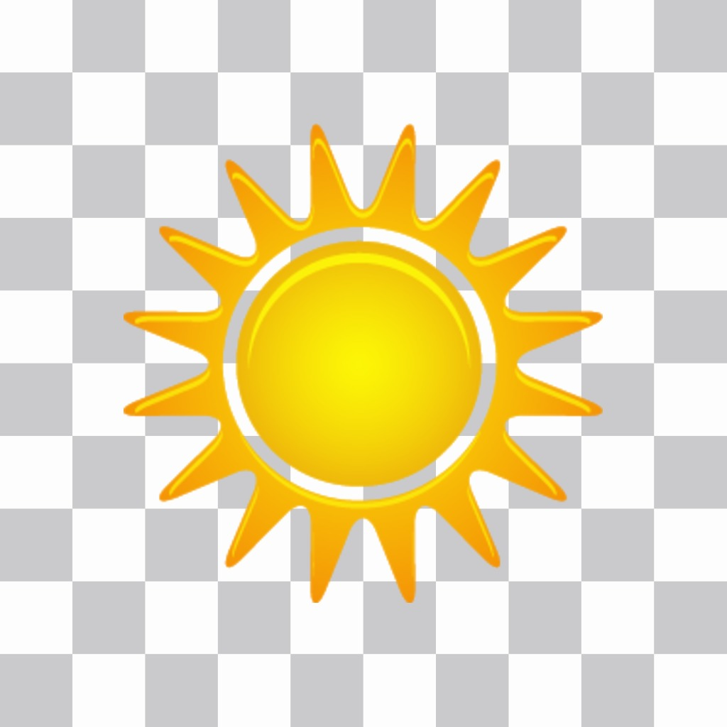 Sticker to put a shining sun in your photos