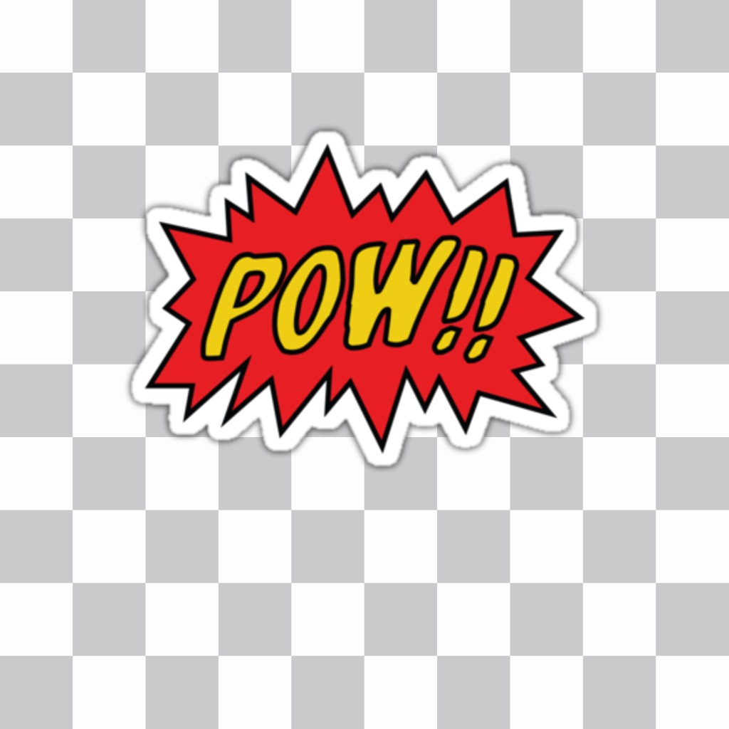 Put the sound effect of POW in Batman comics on your photo with this sticker