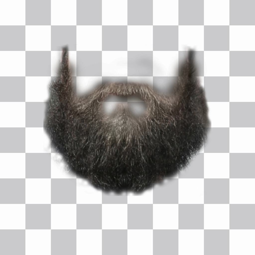 Photomontage to put a beard on your photo