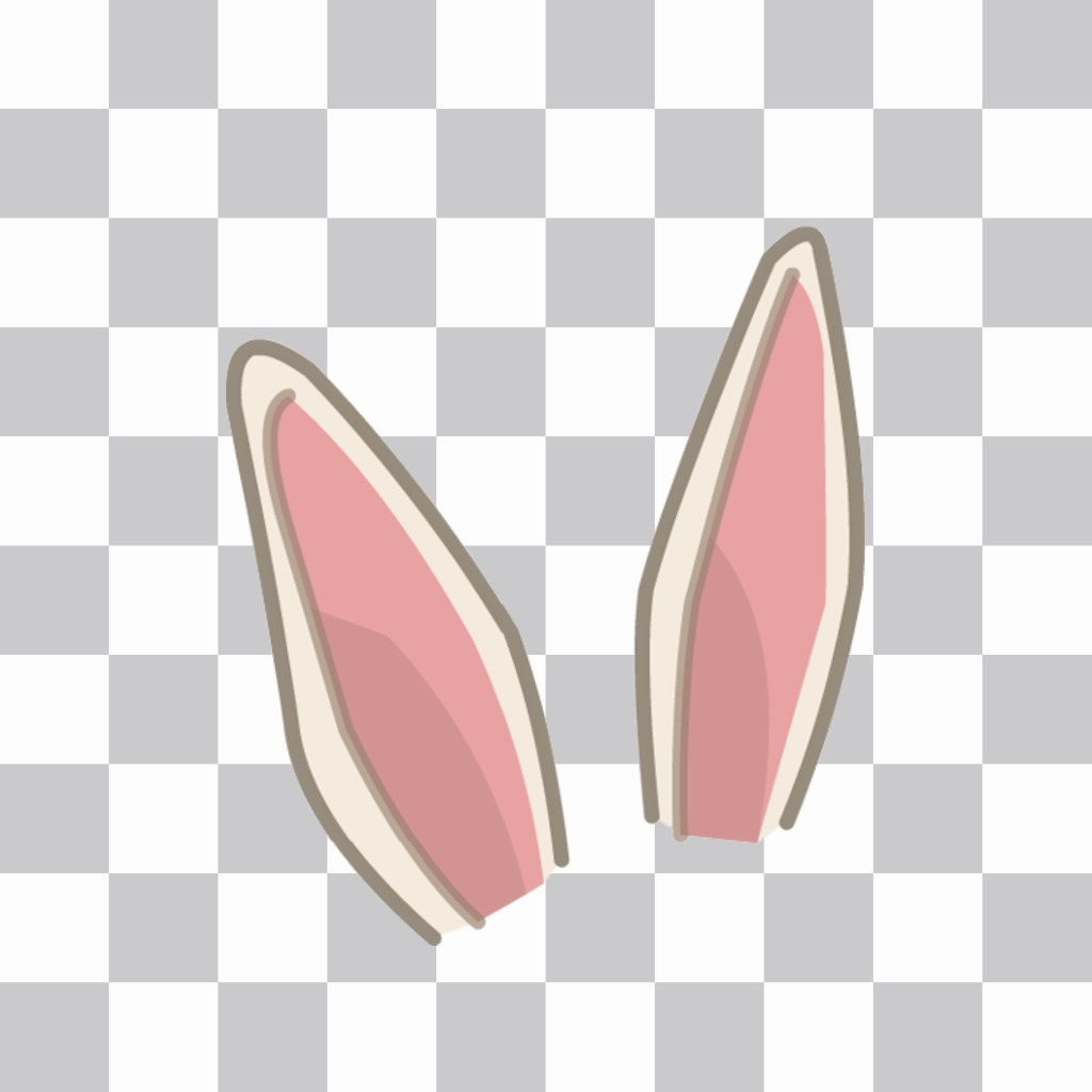 Sticker to put rabbit ears on your picture