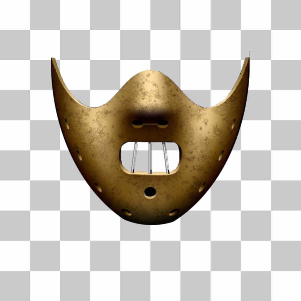 """Sticker of Hannibal Lecter""""s mask"""