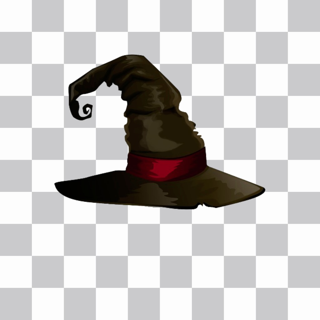 Sticker of pointy black witch hat for your photos